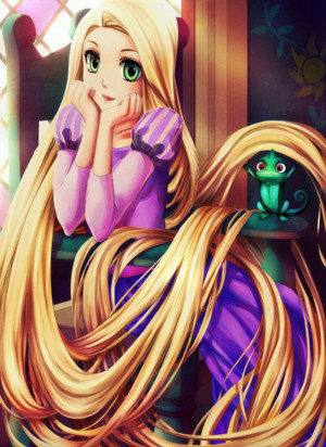 Walt Disney tagahanga Art - Princess Rapunzel & Pascal