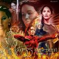 the girl on fire  - the-hunger-games fan art