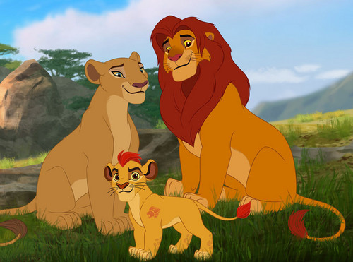 The Lion King kertas dinding with Anime entitled the lion king family