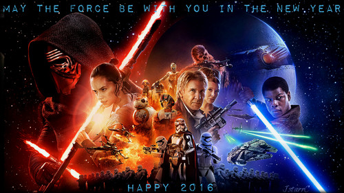 Star Wars wallpaper possibly with a concert and a fountain entitled ~Happy New Year~