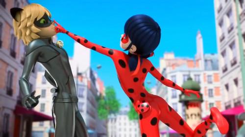Miraculous Ladybug वॉलपेपर possibly containing a विकेट entitled ººLadybug-Chat Noirºº