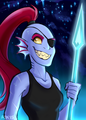undertale undyne door mistrel vos, fox d9hq7uz
