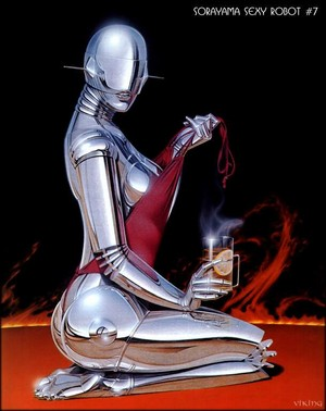 1 robot paintings 由 hajime sorayama