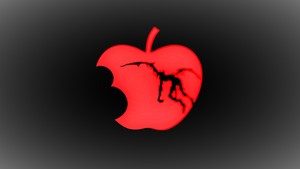 1314959 death note epal, apple