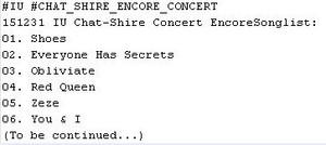 151231 IU 'CHAT-SHIRE' Encore concert