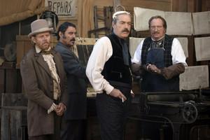 1x06 - Plague -  Cy Tolliver, E.B. Farnum, Al Swearengen and A.W. Merrick