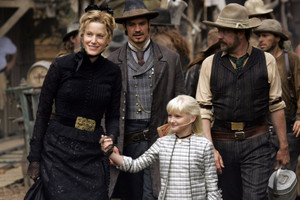3x01 - Tell Your God to Ready for Blood - Martha and Seth Bullock, Sofia Metz and Whitney Ellsworth