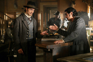 3x01 - Tell Your God to Ready for Blood - Seth Bullock and Al Swearengen