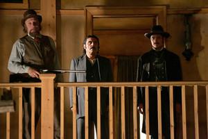 3x12 - Tell Him Something Pretty - Charlie Utter, Al Swearengen and Seth Bullock