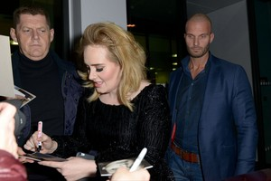 Adele at Airport Cologne