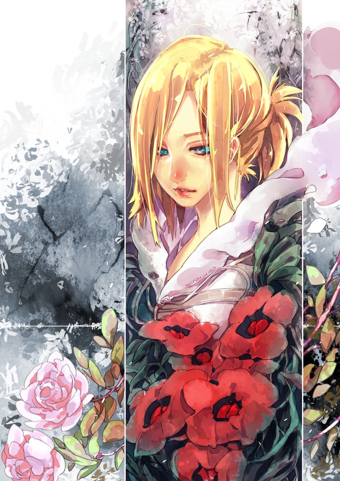 Littlemissbook gambar annie leonhardt shingeki no kyojin hd littlemissbook wallpaper probably with a bouquet and anime titled annie leonhardt shingeki no kyojin voltagebd Image collections
