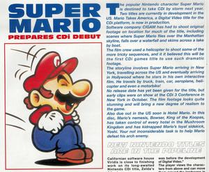 artigo about the canceled segundo Mario CD-I game