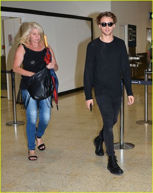Ash at the airport in Sydney