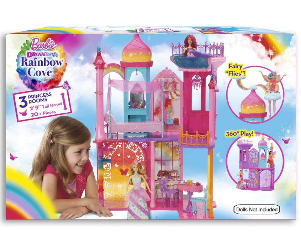 Barbie:Dreamtopia bahaghari Cove kastilyo Playset
