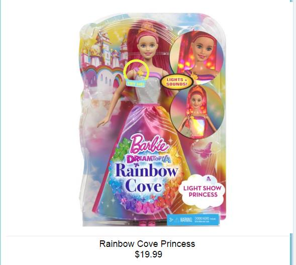 Barbie: Dreamtopia - قوس قزح Cove Princess Doll