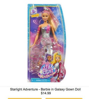 Barbie: Starlight Adventure - barbie in Galaxy vestido Doll