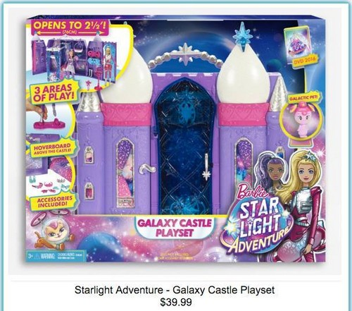 Barbie Movies wallpaper possibly containing anime entitled Barbie: Starlight Adventure - Galaxy Castle Playset