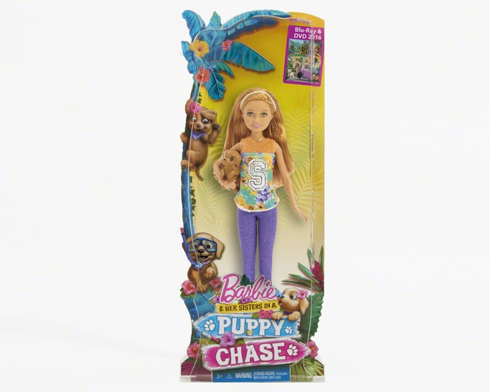 Barbie&her Sisters in a anjing, anak anjing Chase Stacey doll
