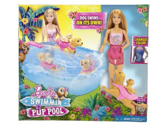 filmes de barbie wallpaper possibly containing animê entitled Barbie&her Sisters in a cachorro, filhote de cachorro Chase Swiminn' Pup Pool