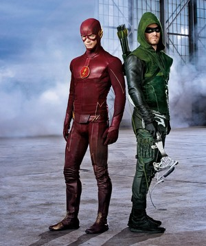 Barry Allen / The Flash - Oliver Queen/ Green Arrow
