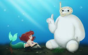 Baymax and Ariel