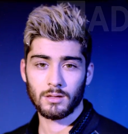 Zayn Malik achtergrond with a portrait entitled Behind The FADER Cover Story