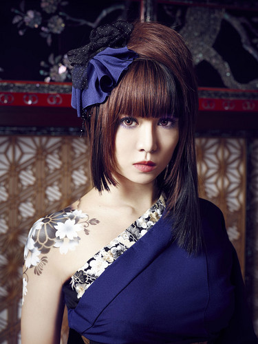 Wagakki Band achtergrond possibly containing a cocktail dress titled Beni Ninagawa