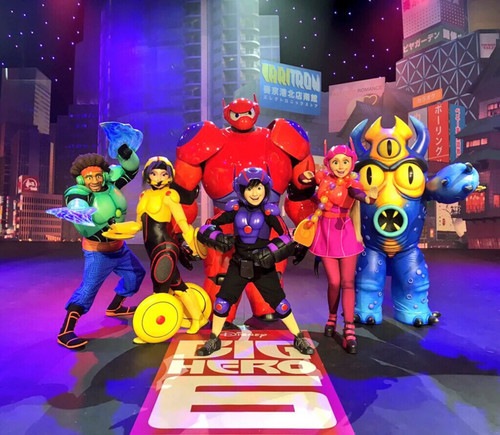 Big Hero 6 Hintergrund entitled Big Hero 6 characters for a private event/party at Disneyland in Paris