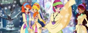 Bloom,Stella,Tecna and Aisha