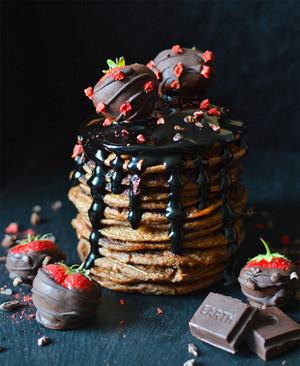 Chocolate pannekoeken, pannenkoeken