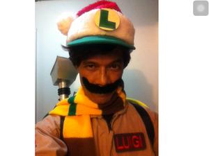 Christmas Boo/Ghostbuster Luigi!