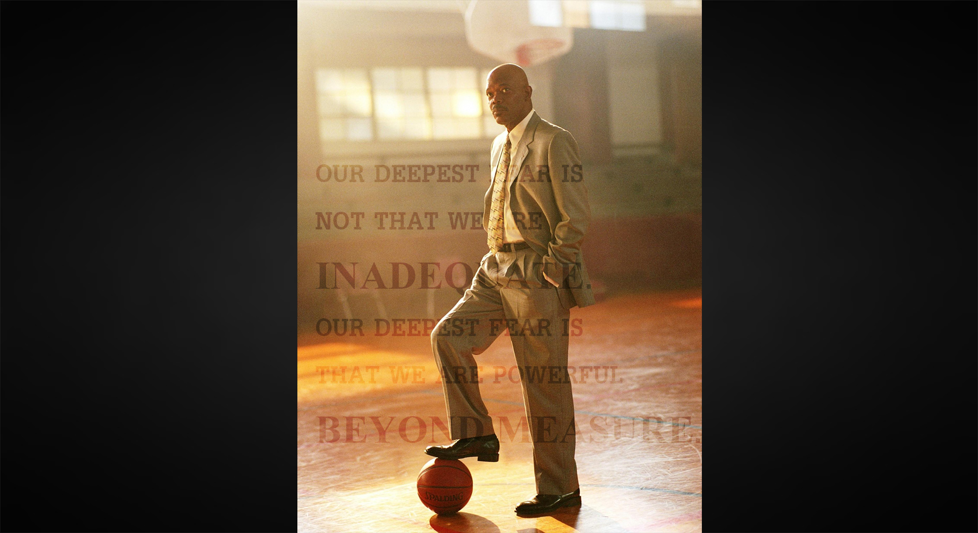 coach carter Imagine shaft with a whistle instead of a smith & wesson, and you'll get an idea  of how samuel l jackson coolly tackles the title role in coach.