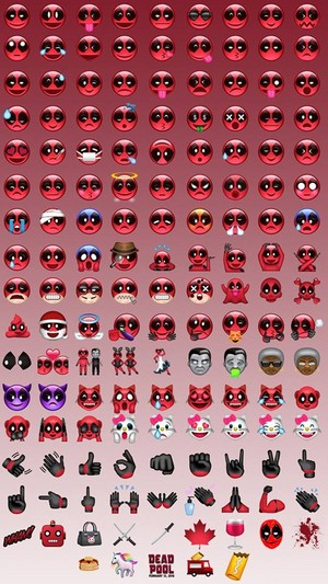 Deadpool Emoji Chart