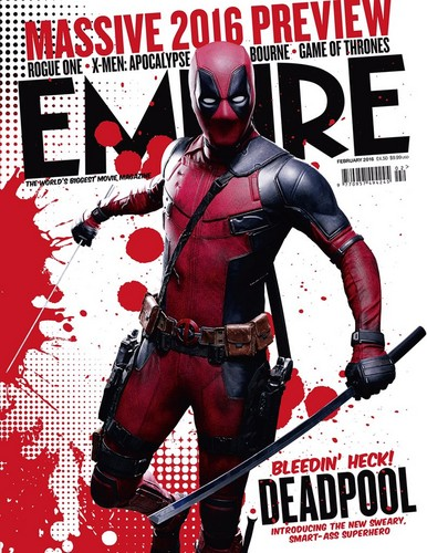 Deadpool (2016) fondo de pantalla with a breastplate, an armor plate, and anime titled Deadpool on the cover of Empire Magaine - February 2016