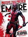 Deadpool on the cover of Empire Magaine - February 2016