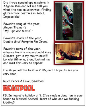 Deadpool's 2015 Newsletter