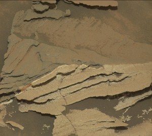 Detail of Discoloration Pattern Seen da Curiosity