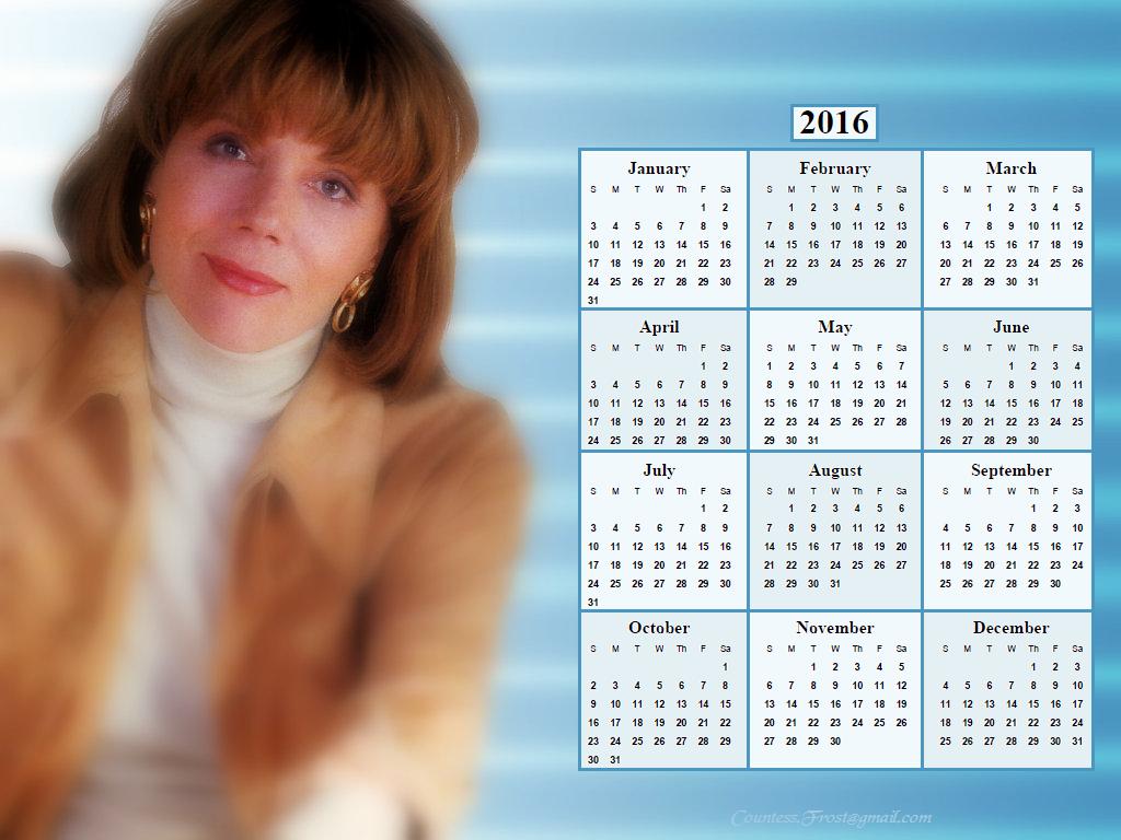 Diana Rigg - 2016 calendar