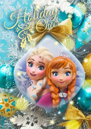 Disney Japan Frozen Weihnachten Card