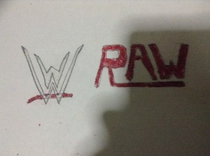 Drawing logo for WWE Raw