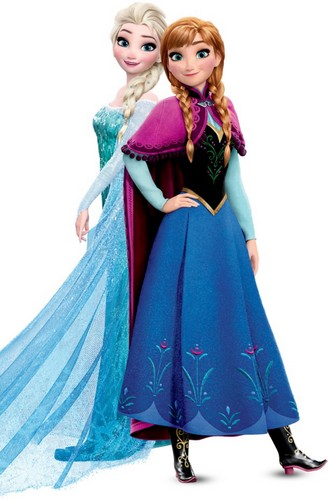 Frozen پیپر وال possibly with a kirtle, چغہ titled Elsa and Anna