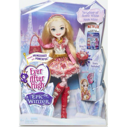 Ever After High wallpaper probably with an electric refrigerator titled Ever After High Epic Winter mela, apple White doll