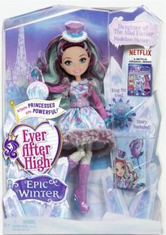 Even After High Hintergrund possibly containing a hard Süßigkeiten entitled Ever After High Epic Winter Madelina Hatter doll
