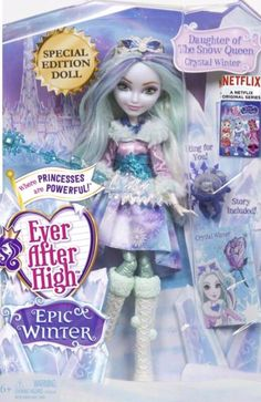 Even After High Hintergrund with Anime entitled Ever After High Epic Winter Crystal Winter doll