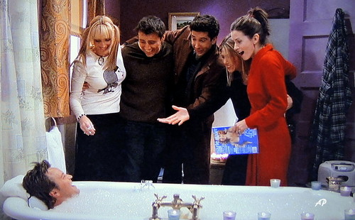 Friends wallpaper containing a hot tub entitled FRIENDS