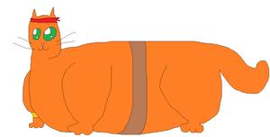 Fat Warrior Cat