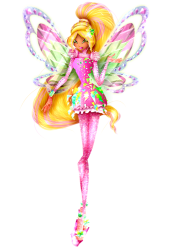 Winx Club hình nền with a bouquet, a rose, and a camellia titled Flora 3D Tynix