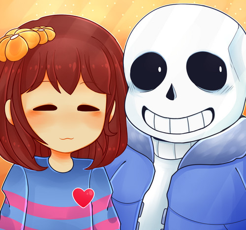 UNDERTALE-The Game wallpaper entitled Frisk and Sans