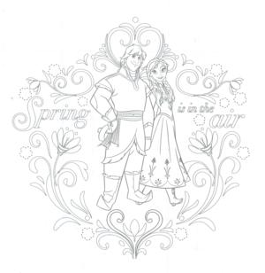 Nữ hoàng băng giá Anna and Kristoff coloring page