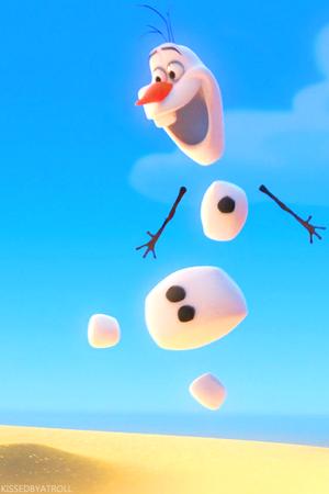 《冰雪奇缘》 Olaf phone 壁纸